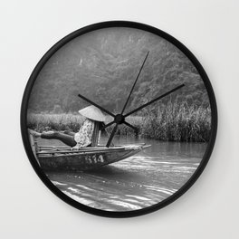 Rowing by feet in Tam Coc | Vietnam | Travel photography | Fine Art | Photo Print |  Wall Clock