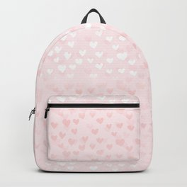 Hearts in light pink Backpack