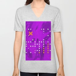 Purple Abstract Passion Unisex V-Neck