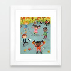 New York Fall Playground Framed Art Print