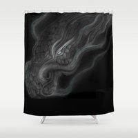 dragons Shower Curtains featuring Dragons by DragonsTime