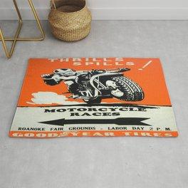 Vintage poster - Motorcycle Races Rug