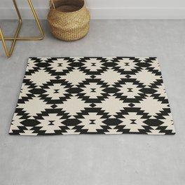 Geometric Southwest Pattern - Black Rug