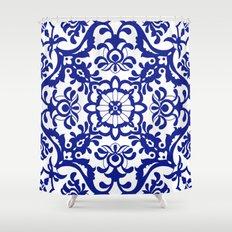 Portuguese tile Shower Curtain