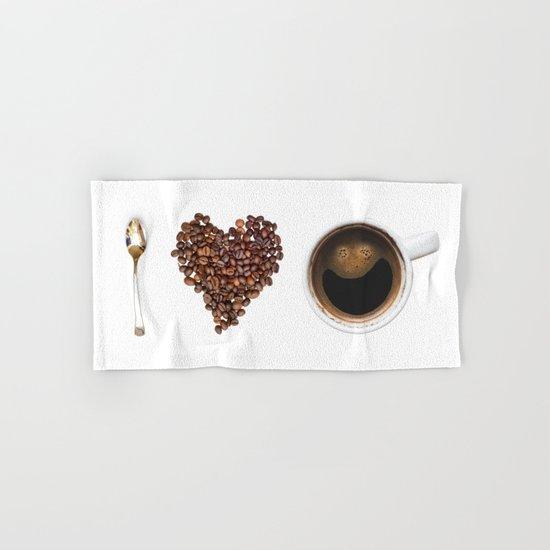 I Love Coffee Hand & Bath Towel