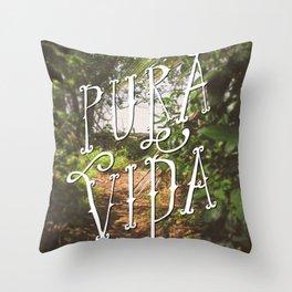Pura Vida Costa Rica Jungle Life Caribbean Type Throw Pillow