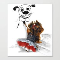 terrier Canvas Prints featuring terrier by albertovna87