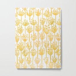 Golden Dandelions Metal Print