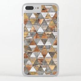 Rustic Geometry 3 Clear iPhone Case