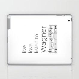 Live, love, listen to Wagner Laptop & iPad Skin