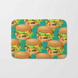 Double Cheeseburgers Bath Mat