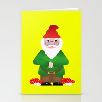 gnome Stationery Cards featuring Gnome by lescapricesdefilles