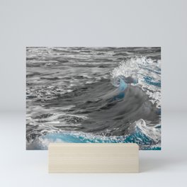 Black and White to Color Wave Mini Art Print