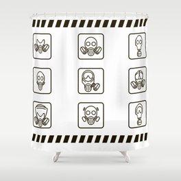 Gasmask Shower Curtain