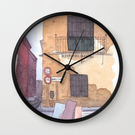 Late afternoon in Seville Wall Clock