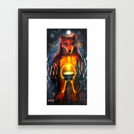 BeornHeorte - Bear Heart Framed Art Print