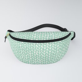 Hand Knit Mint Fanny Pack