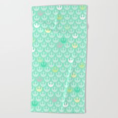 Rebel Alliance on Mint in Pastels Beach Towel