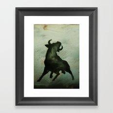 TRK - Bull Framed Art Print