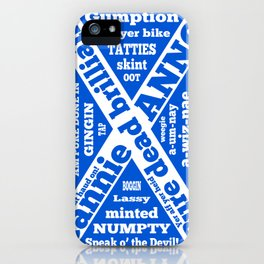 Scottish slang and phrases iPhone Case
