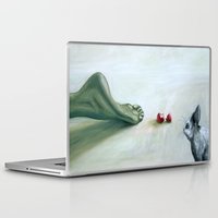 circle Laptop & iPad Skins featuring Circle by The Being art
