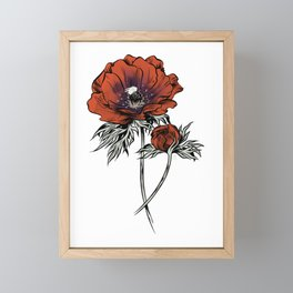 White as Milk, Red as Blood: Flower Framed Mini Art Print
