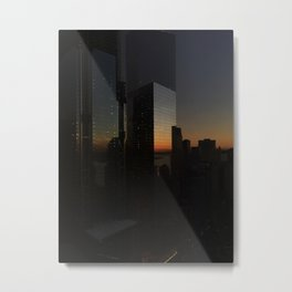 Sunset Skyline Metal Print