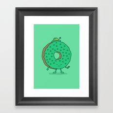 The St Patricks Day Donut Framed Art Print