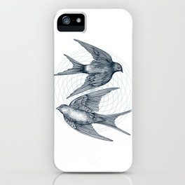 Two Swallows iPhone Case