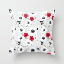 Anemone Print Throw Pillow