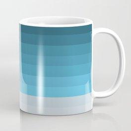 Blue Lagoon stripes pattern Coffee Mug