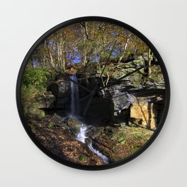 Waterfall at Lumsdale Wall Clock