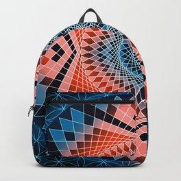 Mandala Sacred Geometry Red Blue Backpack