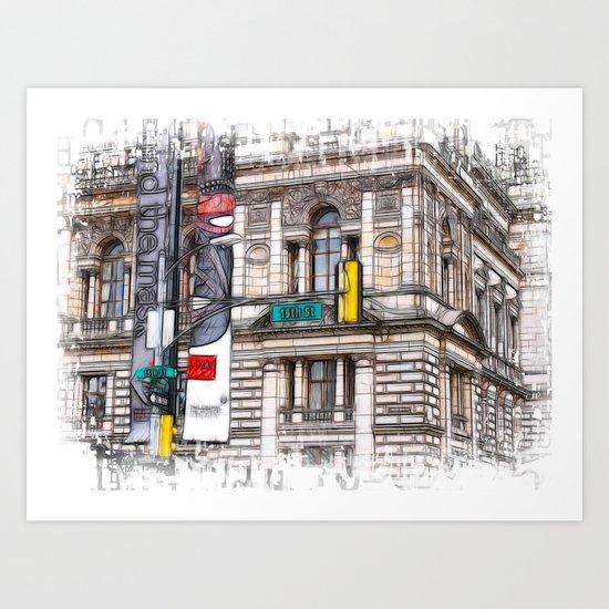 World War Z Street Location Art Print