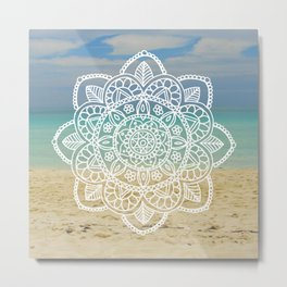 Beach Mandala Metal Print