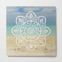 Beach Mandala Metal Print