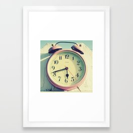 Pink Clock Framed Art Print