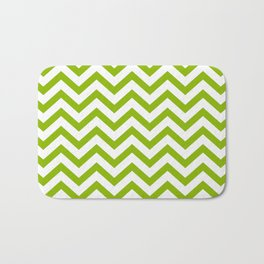Simple Chevron Pattern - Apple Green & White - Mix & Match with Simplicity of Life Bath Mat