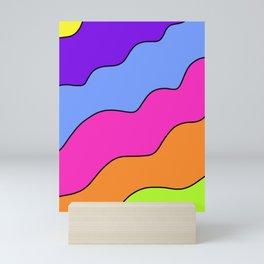 Bright Wavy Sectors Mini Art Print