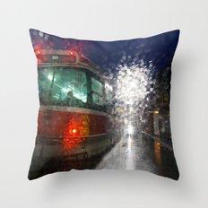 Rain Rider Throw Pillow