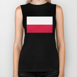Flag of Poland - Authentic (High Quality Image) Biker Tank