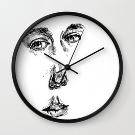 my face (the most important parts) Wall Clock
