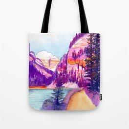 Walk around Lake Louise Tote Bag