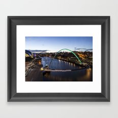 Newcastle Quayside Framed Art Print