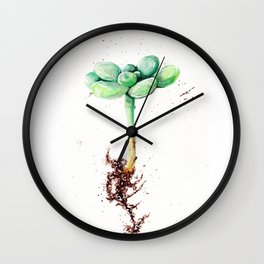 Second Cactus Wall Clock