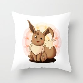 Kawaii Eevee Throw Pillow