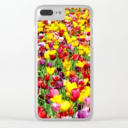 SEA OF TULIPS Clear iPhone Case