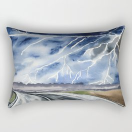 Thunderstorm en route Rectangular Pillow