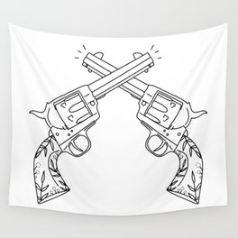 Botanical Revolvers Wall Tapestry