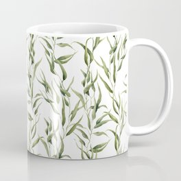 Watercolor green ornament with eucalyptus Coffee Mug